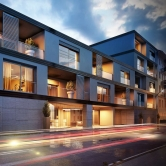 Palazzina residenziale - Via Newton (MI)